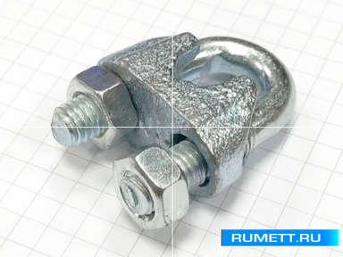 Зажим для стального троса М6 DIN 741