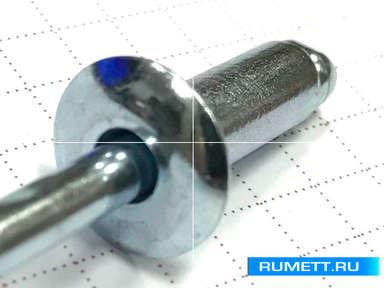 Заклёпка вытяжная 6,4x18 мм оцинкованная сталь ST