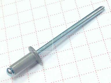 Заклёпка вытяжная 3,2х8 алюминий/сталь RAL 7004