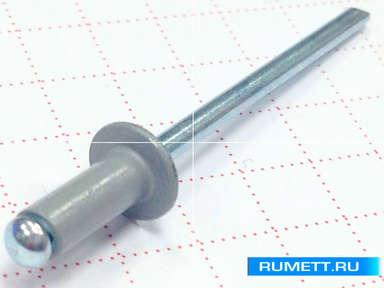 Окрашенные вытяжные заклёпки 4,8х12 RAL 7004 (сигнальный серый)