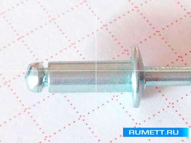Заклёпка вытяжная 4x10 мм оцинкованная сталь ST