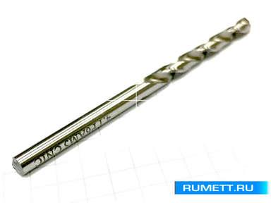 Сверло по металлу 2,05 Р6АМ5 цил. хвост. шлиф. профиль