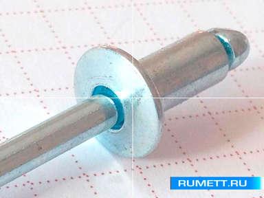 Заклёпка вытяжная 4,8x12 мм оцинкованная сталь ST