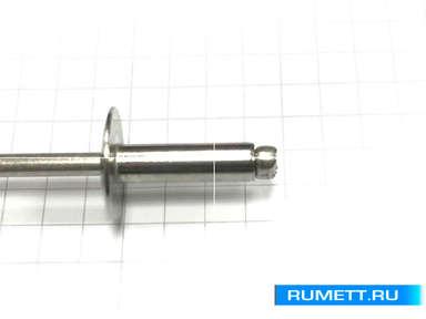 Заклёпка вытяжная 4,8x16 A2 нержавеющая сталь K14 Широкий бортик