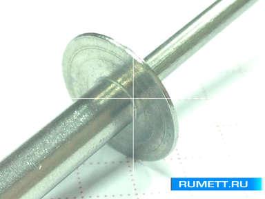 Заклёпка вытяжная 4,8x21 A2 нержавеющая сталь K14 Широкий бортик