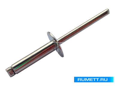 Заклёпка вытяжная 4,8x18 A2 нержавеющая сталь K14 широкий бортик
