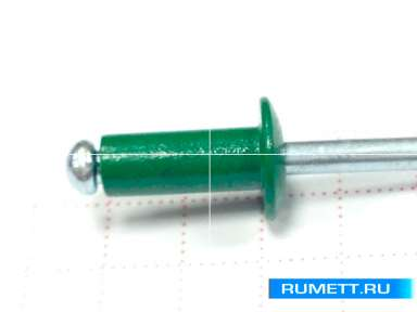 Заклёпка вытяжная 4х10 алюминий/сталь RAL 6002 (лиственно-зеленый)