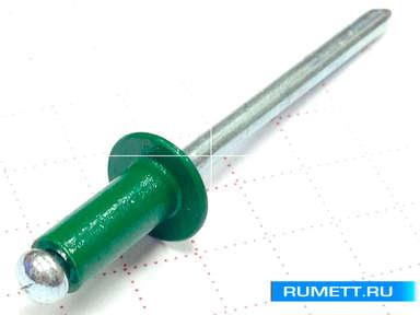 Заклёпка вытяжная 3,2х8 алюминий/сталь RAL 6002