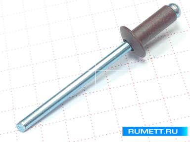 Заклёпка вытяжная 4х10 алюминий/сталь RAL 8017 (коричневый)