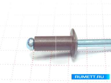 Заклёпка вытяжная 3,2х8 алюминий/сталь RAL 8017