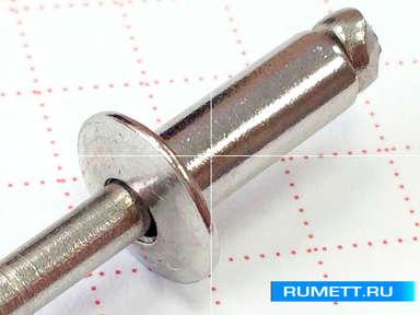 Вытяжная заклёпка 4x12 A2 нержавеющая сталь
