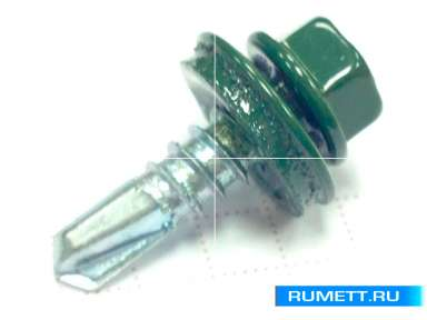 Окрашенный кровельный саморез 5,5х19 мм RAL 6002
