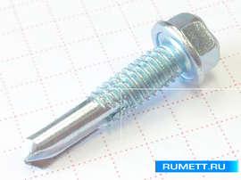Усиленный саморез по металлу 5,5х25 сверло №4 (8мм) DIN 7504 без шайбы