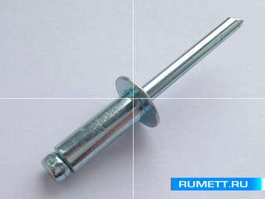 Заклёпка вытяжная 5x20 мм оцинкованная сталь ST