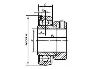 Подшипник AEL206 (780206K) CNIC