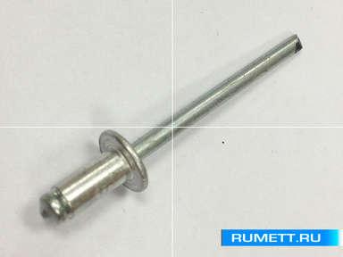 Заклёпка вытяжная 2,4х6 алюминий/сталь