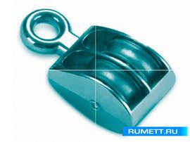 Блок стальной Simplex с металлическим шкивом М30