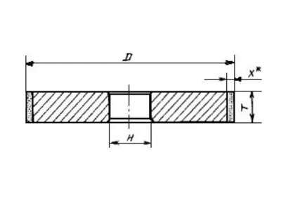Круг алмазный 1А1 (плоский прямого профиля) 50х16х3х16 SSD-2 (АС4) 125/100 100% В2-01 31,0 карат