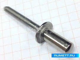 Вытяжная заклёпка 4x12 нержавейка закрытая GA