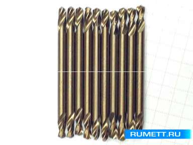 Двухстороннее сверло по металлу HSS-Co 4,1 мм double