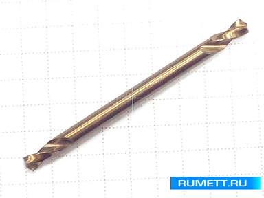 Двухстороннее сверло по металлу HSS-Co 3,3 мм double