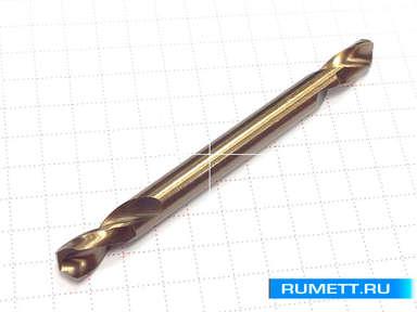 Двухстороннее сверло по металлу HSS-Co 5,1 мм double