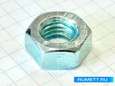 Гайка DIN 934 М14 шестигранная оцинкованная