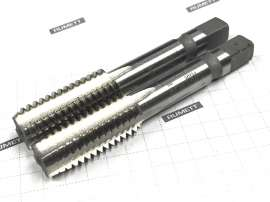 "Метчик 1/2"" UNC 60° Р6АМ5 дюймовый м/р (комплект из 2 штук) (13 ниток/дюйм) DIN351 CNIC"