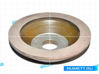 Эльборовый круг 11А2 (чашечный конический) 100х35х20х10х5 ЛО 250/200 СМ1 100% 66,0 карат