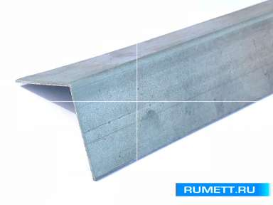 Горизонтальный Г-образный профиль 40x40 оцинкованная сталь 1,2 мм