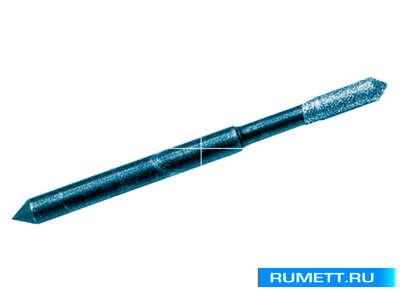 Головка алмазная цилиндрическая d 8,0х 3х 8х60мм AW (ГЦ) SSD-2 (АС4) 160/125 100% В2-01 с хвостовиком