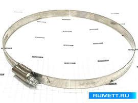 Хомут червячный 140-160/12мм W5 нержавеющая сталь DIN 3017 (01E12140160)