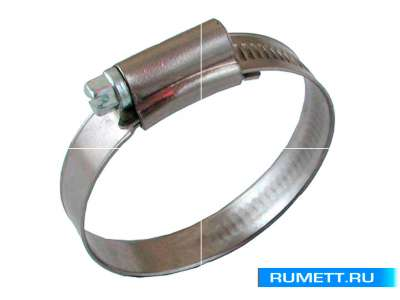 Хомут червячный 62-82/12,7мм W2 нержавеющая сталь с оцинкованным винтом SAE J1670 (05B6282)