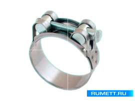 Хомут ленточный винтовой 74-79/24мм, М8х70мм, W2 нержавеющая сталь (26В7479)