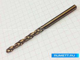 Сверло по металлу 5,2 мм HSS-Co 86мм ГОСТ 10902-77 DIN 338