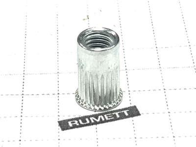 Заклепка резьбовая рифленая м5 х1,0х12 уменьшенный бортик