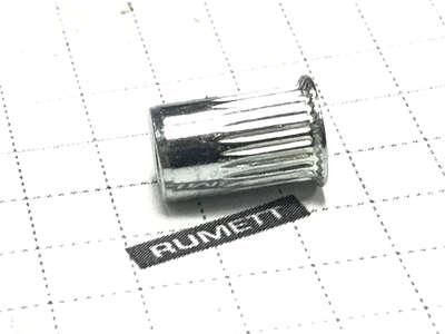 Заклепка резьбовая рифленая м6 х1,7х15 уменьшенный бортик