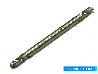 Сверло по металлу двухстороннее HSS-G 3,2мм L=49мм DIN 1897