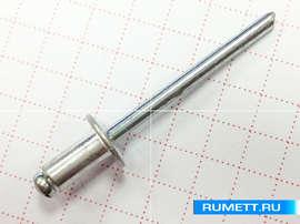 Комбинированная вытяжная заклёпка 3,2х8 мм алюминий/сталь