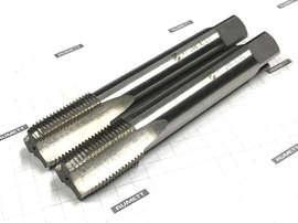 """Метчик G 3/8"""" 9ХС LH трубный цилиндрический ручной (комплект из 2 штук) (19 ниток/дюйм) левый ГОСТ 3266 CNIC"""