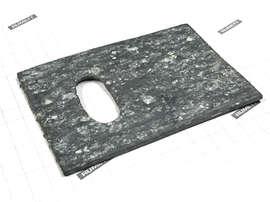 Паронитовая прокладка 72х50 (70х50) толщина 2 мм с овальным отверстием