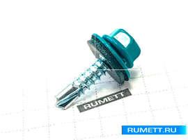 Окрашенный кровельный саморез 4,8х19 RAL 5021 (водная синь)