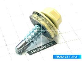 Окрашенный кровельный саморез 4,8х29 мм RAL 1014