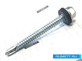 Саморез кровельный 6,3х64 мм оцинкованная сталь