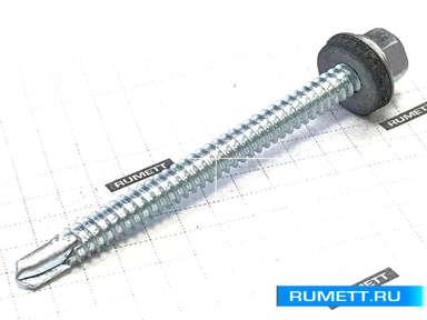 Саморез кровельный 6,3х76 мм оцинкованная сталь
