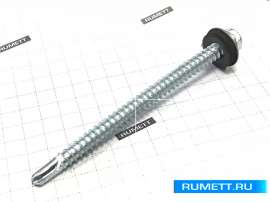 Саморез для стального профиля 5,5х76 сверло 6 мм и EPDM шайба