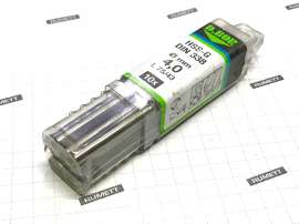 Сверла по металлу HSS-G DIN 338 4,0х43/75 (10шт)