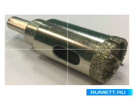Алмазная коронка по стеклу и кафелю 22 мм