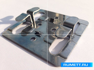 Кляммер рядовой ККР 1,2 мм нерж. AISI 430 Декот XXI