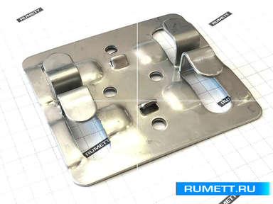 Кляммер рядовой ККР из нержавеющей стали AISI 304 толщ. 1,2 мм